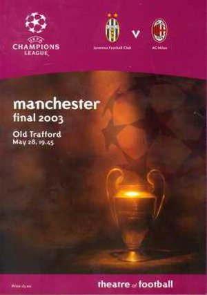 2003 UEFA Champions League Final - Match programme cover