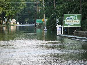 Mid-Atlantic United States flood of 2006 - Image: Columbia njflood june 06