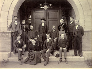 Crane Theological School - The graduating class of 1897, notable for the presence of three women among the graduates that year.