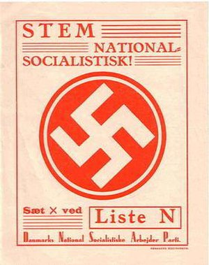 National Socialist Workers' Party of Denmark - 1943 DNSAP election poster