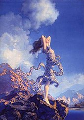 Pity, that maxfield parrish swinging girl