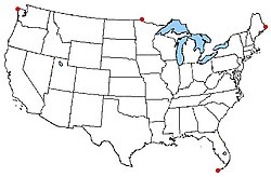 Extreme Points Of The United States Wikipedia The Free Encyclopedia - The united states hawaii alaska map