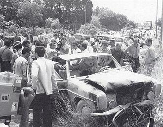 Benedetto Santapaola - In order to kill Santapaola's rival, Alfio Ferlito, three carabinieri and a private driver who were escorting him from Enna to Trapani prison were killed as well.