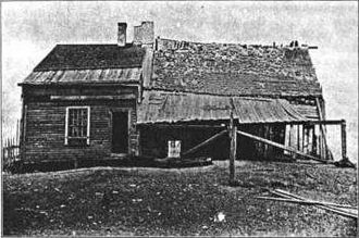 Fields Point - Thomas Field house, ca. 1690, on Fields Point, a vernacular stone-ender that is now demolished