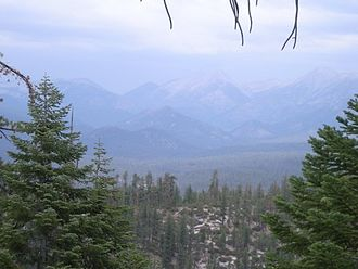 Golden Trout Wilderness - Lookout from the Jordan Trail.