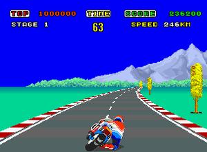 Hang-On - in-game screenshot