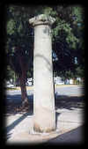 Broad Street Historic District (Augusta, Georgia) - The Haunted Pillar on Broad Street