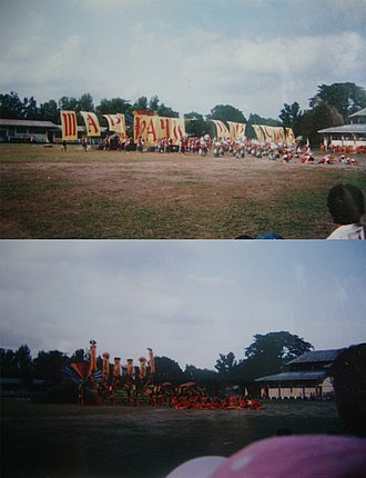 Esperanza, Sultan Kudarat - The winning entry of NDEi (top) and one of the ENHS entries (bottom) at Hinabyog 2005, held in NDEi campus.