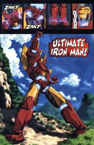 Marvel Mangaverse - The Avengers transformed their Iron Avengers into the Ultimate Iron Man robot, which is attributed towards Mazinger Z