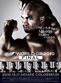 A poster or logo for K-1 World Grand Prix 2010 Final.