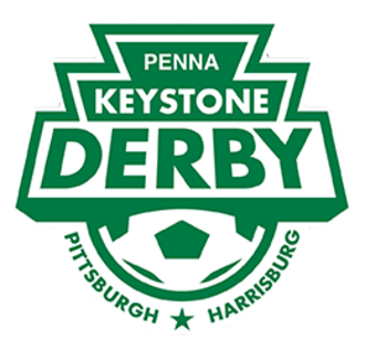 Penn FC - Logo for the Keystone Derby Cup between Penn FC and the Pittsburgh Riverhounds
