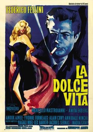 La Dolce Vita - Original release poster by Giorgio Olivetti