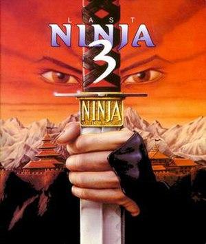 Last Ninja 3 - Cover art for the Commodore 64