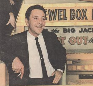 Lee Gordon (promoter) - Promoter Lee Gordon, early 1960s, outside his Jewel Box Revue Club in Darlinghurst, Sydney
