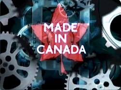 a red maple leaf over a field of blue gears, with the title in caps