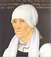Martin Luther's mother Margarethe Luther.