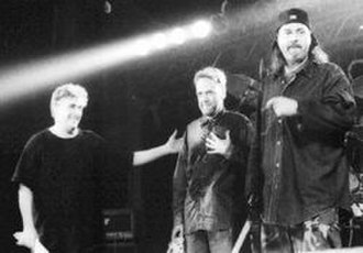 Massacre (experimental band) - From the left: Fred Frith, Charles Hayward, Bill Laswell.