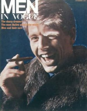 Men in Vogue - The first issue, November 1965, featuring Edward Fox