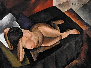 Moïse Kisling - Moïse Kisling, 1913, Nu sur un divan noir, oil on canvas, 97 x 130 cm, published in Montjoie, 1914