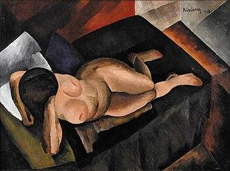 Moïse Kisling - Moïse Kisling, 1913, Nu sur un divan noir, oil on canvas, 97 x 130 cm, published in Montjoie, 1914