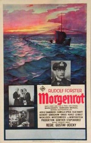 Morgenrot (film) - Image: Morgenrot 1933 poster