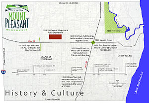 Mount Pleasant, Wisconsin - History of Mount Pleasant