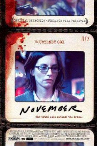November (2004 film) - Image: November film poster