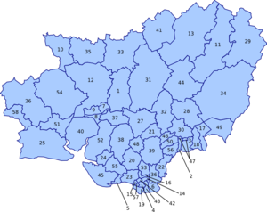 Carmarthenshire County Council - Electoral ward map of Carmarthenshire