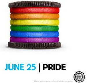 Oreo - The rainbow Oreo advertisement in support of Gay Pride month