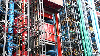 Centre Georges Pompidou - Building technology
