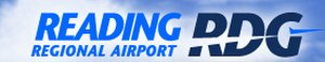 Reading Regional Airport - Image: RDG logo