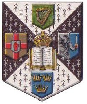 Royal University of Ireland - Image: Royal University of Ireland full coat of arms