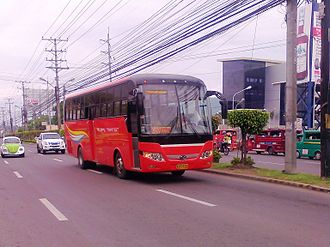 Rural Transit of Mindanao - A Rural Transit 2392 bound for Cagayan de Oro. Her Number, 2392 indicates the prefix number 2, which is assigned for Yacapin Base.