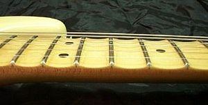 Fingerboard - Scalloped fingerboard of Yngwie Malmsteen Stratocaster