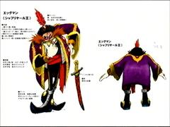 Concept art of Dr. Eggman as King Shahryār of Persia.