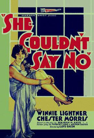 She Couldn't Say No (1930 film) - Theatrical release poster