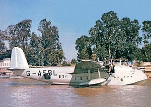 Short Empire - The BOAC Short 'C' Class flying boat G-AFBL Cooee, at Rod El Farag, Egypt, c. 1946