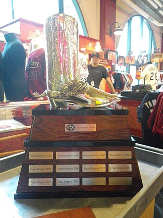 Major League Baseball rivalries - The Silver Boot is awarded annually to the winner of the Lone Star Series