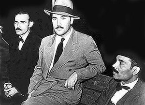 Pedro Albizu Campos - Clemente Soto Vélez, Juan Antonio Corretjer and Pedro Albizu Campos (L to R), immediately prior to their trial and federal imprisonment.