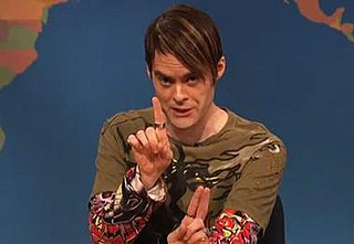 """Stefon """"Saturday Night Live"""" character portrayed by Bill Hader"""