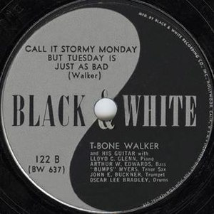Ralph Bass - Image: T Bone Walker Call It Stormy Monday