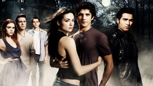 Teen Wolf cast; From left to right: Lydia Mart...