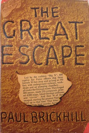 The Great Escape (book) - First UK edition (publ. Faber) Cover art by Ley Kenyon