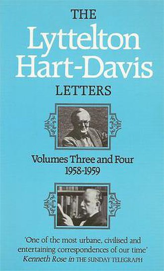 Lyttelton/Hart-Davis Letters - Title page of the middle volume