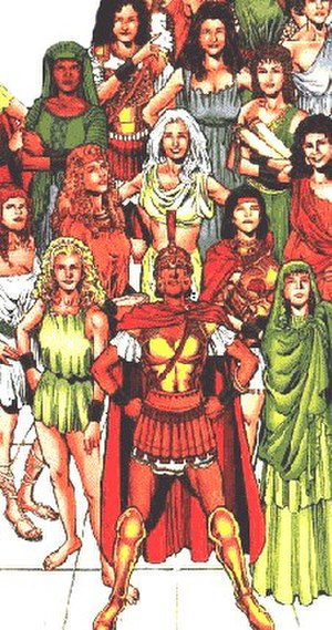 Amazons (DC Comics) - Themyscirian Amazons as represented by diversified ethnicities. Art by Phil Jimenez from Wonder Woman Secret Files and Origins.