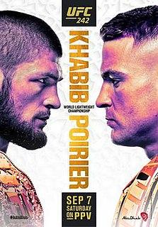 UFC 242 UFC mixed martial arts event in 2019