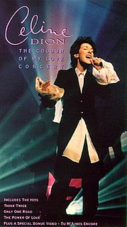 <i>The Colour of My Love Concert</i> 1995 video by Celine Dion
