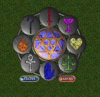 Ultima (series) - The Virtues Paper doll interface Symbol in Ultima Online
