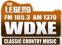 WDXE TheLegendFM105.3-AM1370 logo.png