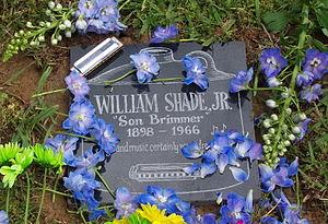Will Shade - Shade's gravestone, Memphis, 2008